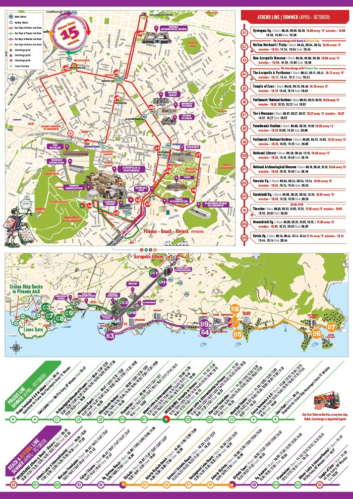 Athens Attractions Map Pdf Free Printable Tourist Map
