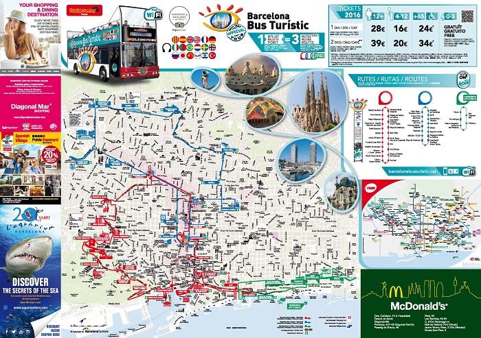 Barcelona Attractions Map PDF - FREE Printable Tourist Map Barcelona ...
