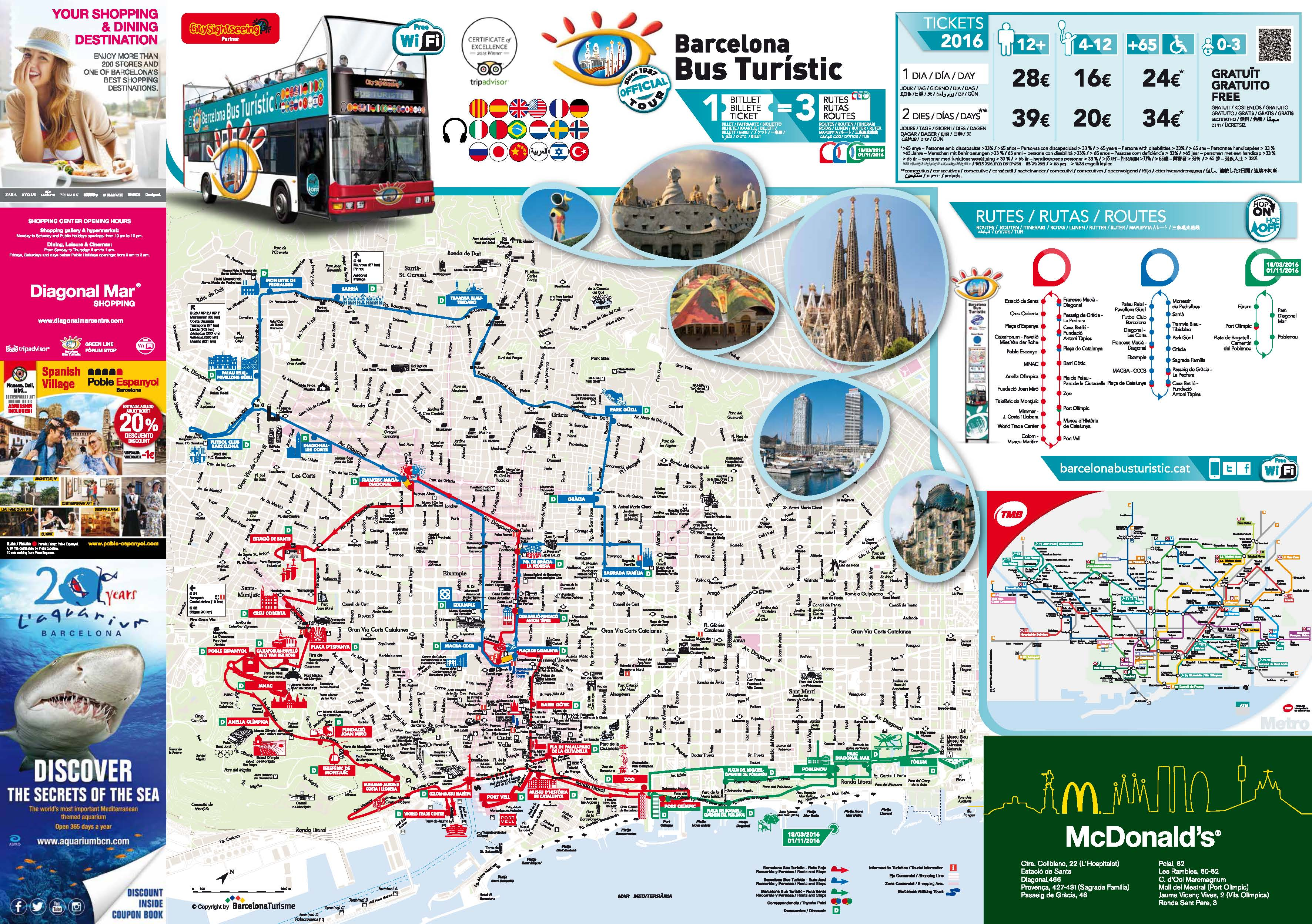 Barcelona Attractions Map Pdf Free Printable Tourist Map