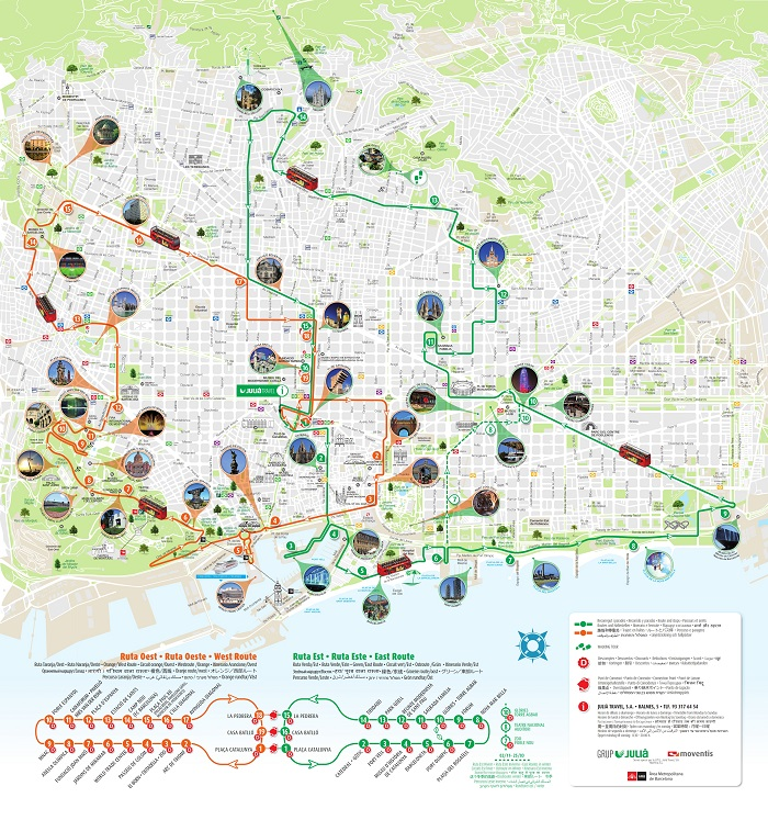 Barcelona Attractions Map PDF - FREE Printable Tourist Map Barcelona on