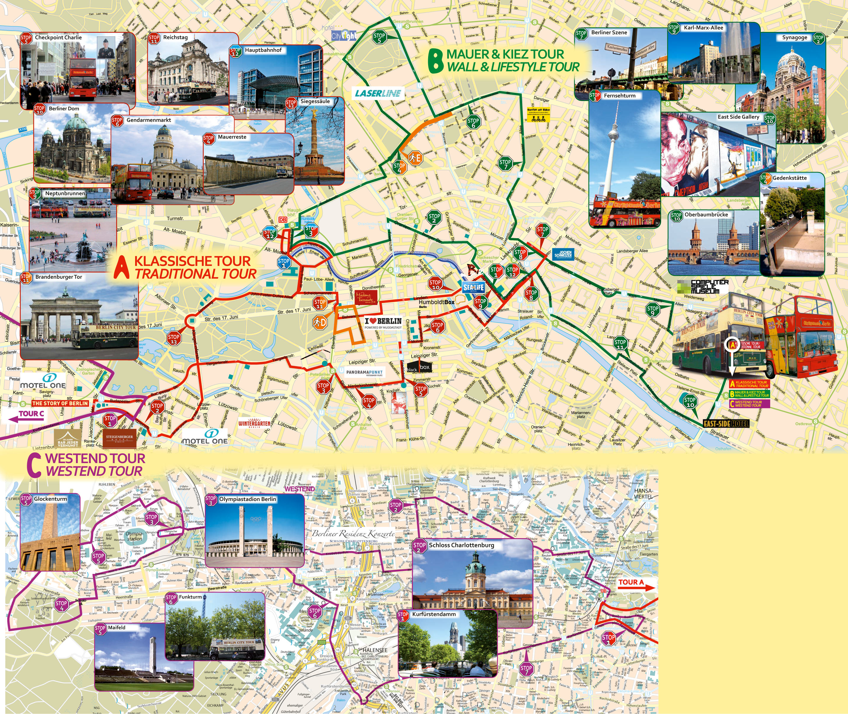 which is best berlin hop on hop off sightseeing tour  compare  - berlin city sightseeing buy tickets  info · bus route map