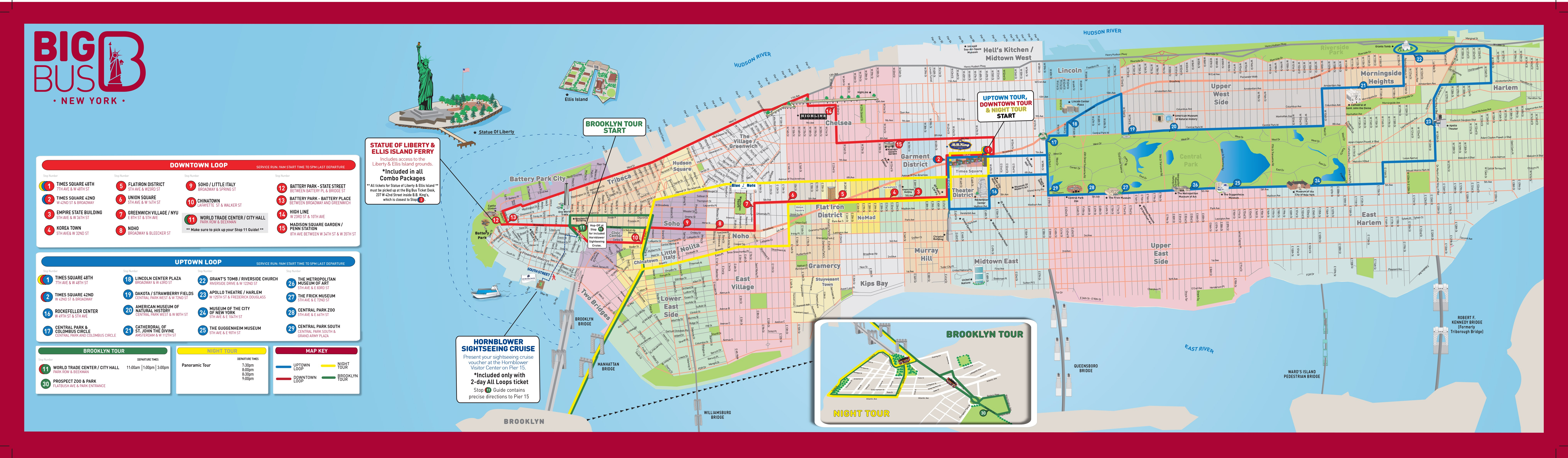 New york Hop On Hop Off Bus Route Map PDF