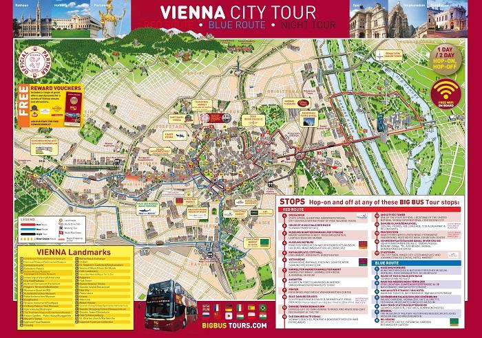Vienna Hop On Hop Off Bus   Combo Deals   Bus Tour Route Map ...