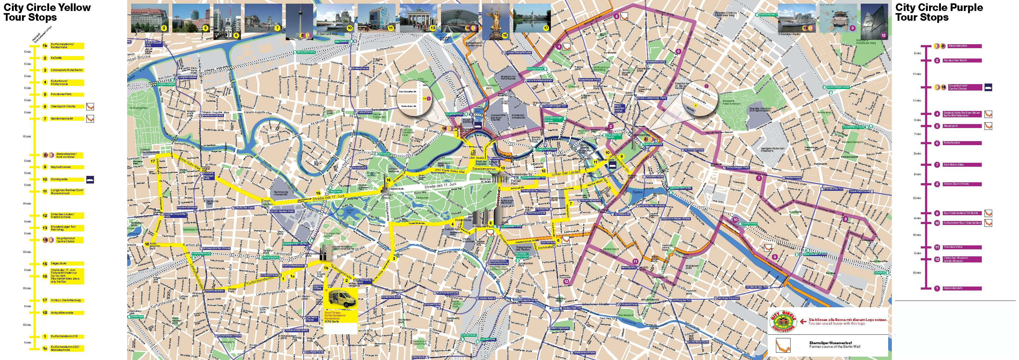 Berlin City Circle Sightseeing Bus Map