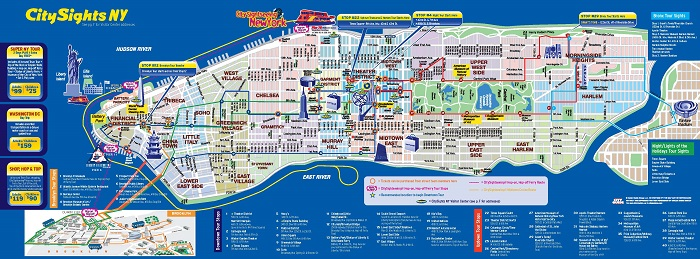 New York Attractions Map Pdf Free Printable Tourist Map New York