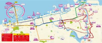 Dubai Big Bus Tours Route Map