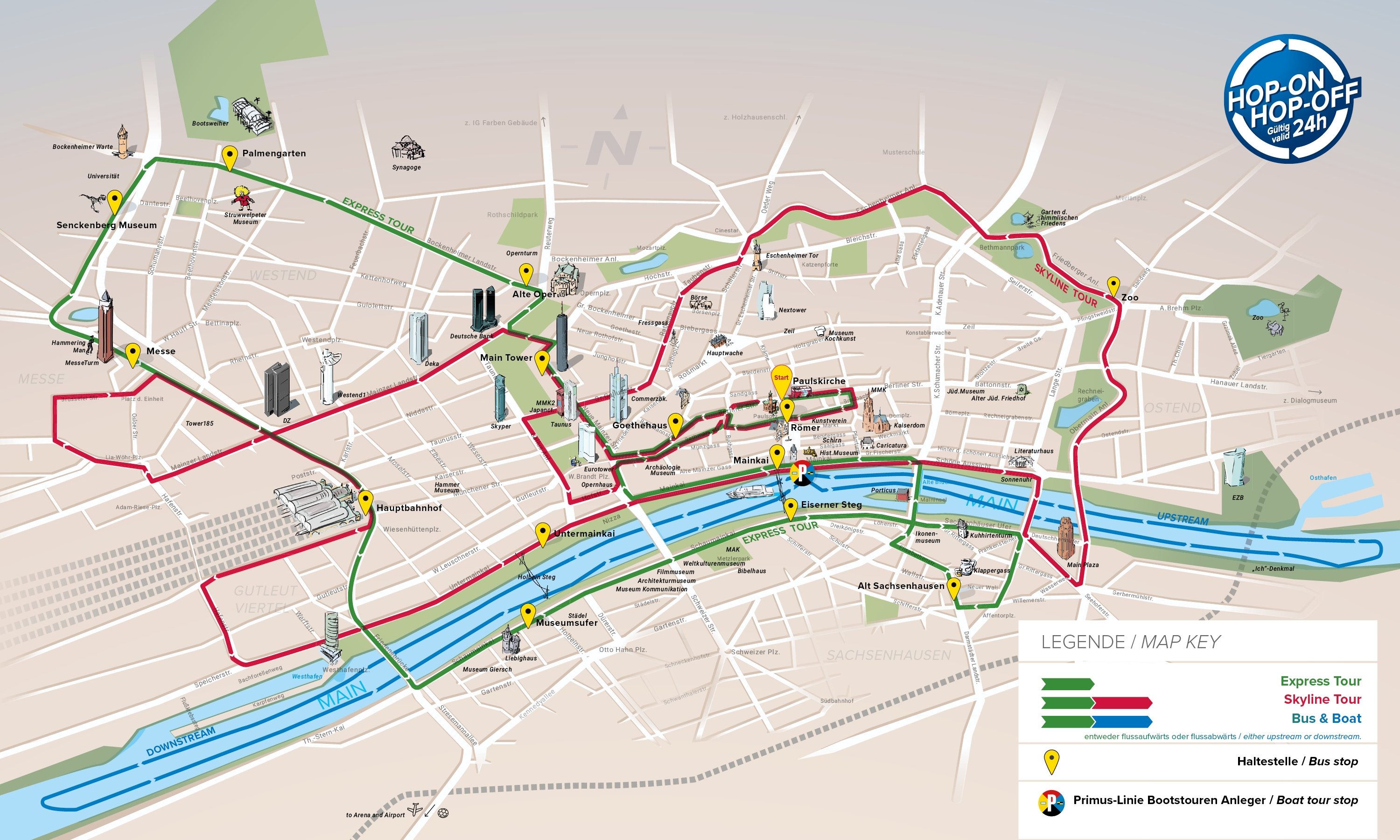 Frankfurt Attractions Map Pdf Free Printable Tourist Map