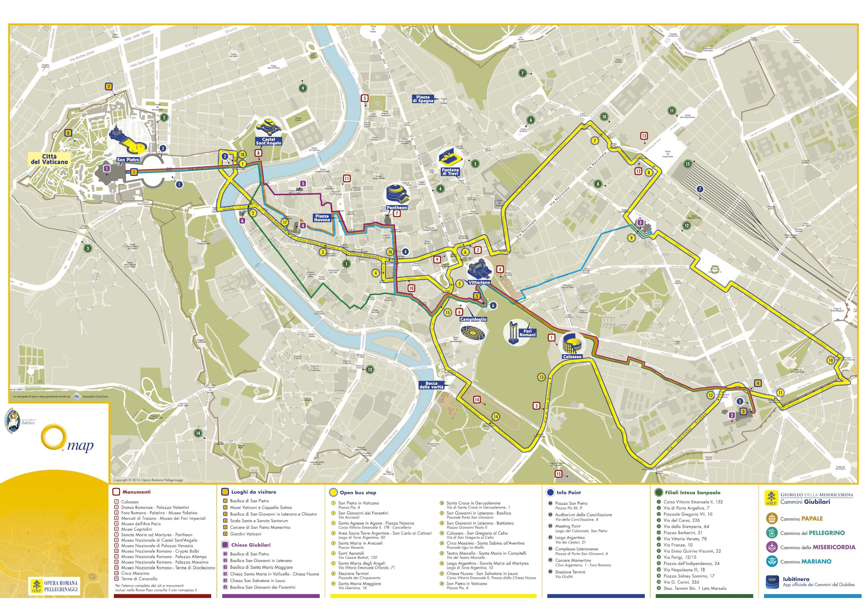 Rome Metro Map With Attractions.Rome Attractions Map Pdf Free Printable Tourist Map Rome Waking
