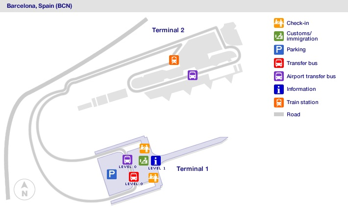 barcelona airport terminal 2b map 10 Private Barcelona Airport Bcn Transfers Taxi 2020 Terminal Maps For Shops Food Restaurants barcelona airport terminal 2b map