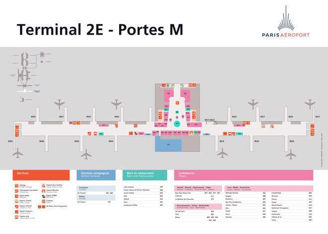 Charles de Gaulle Map (CDG) - Printable Terminal Maps, Shops ...