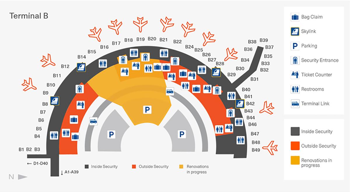 dallas-fort worth international airport map (dfw