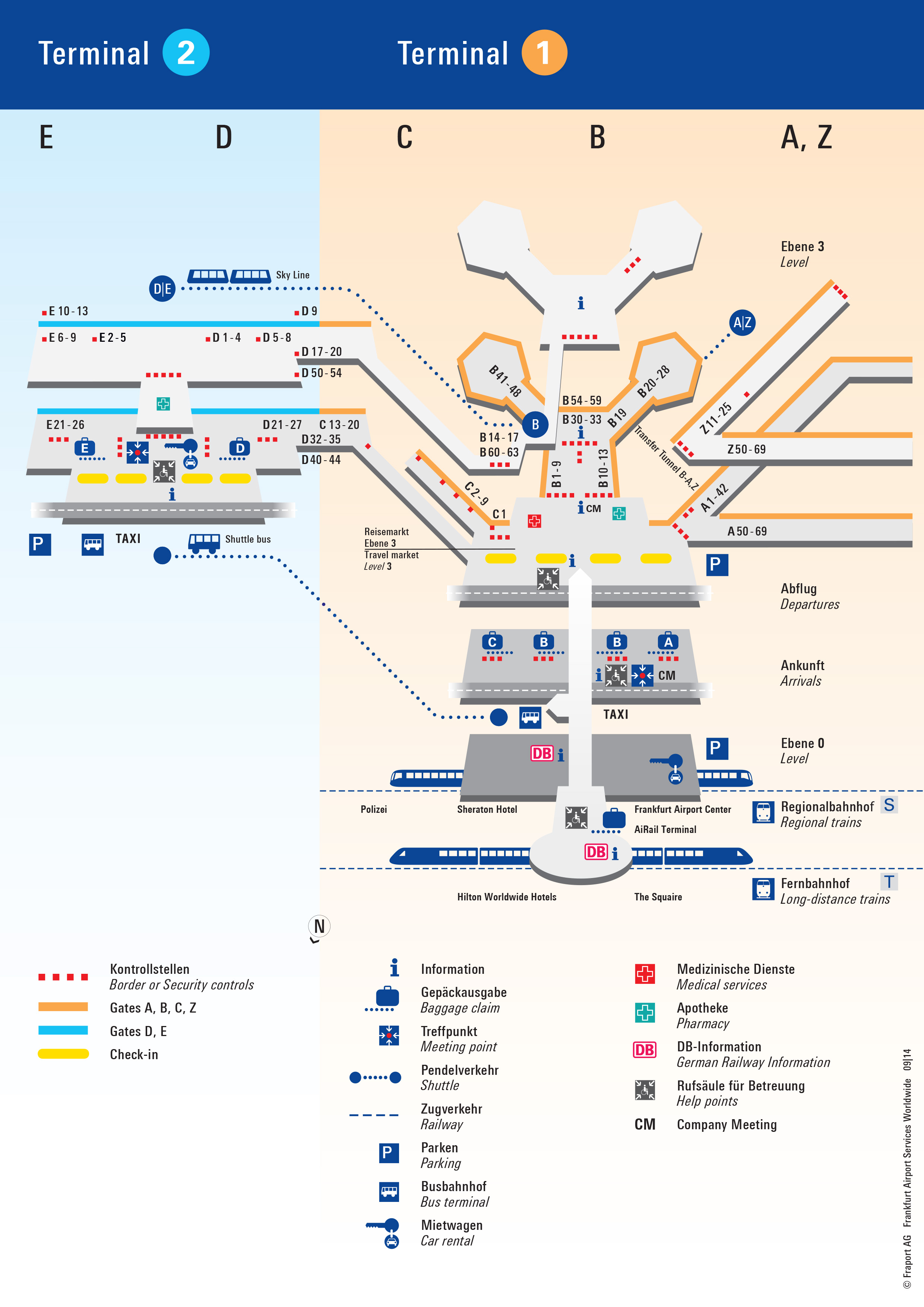 Flughafen Frankfurt Gate Plan