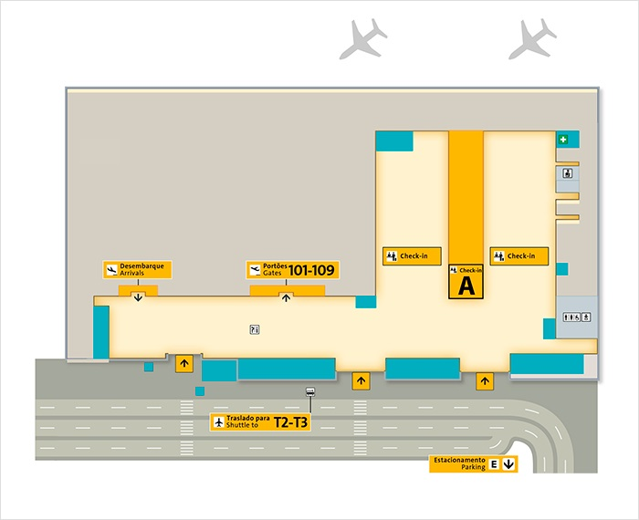 guarulhos international airport map 10 Private Sao Paulo Guarulhos Airport Gru Transfers Taxi 2020 guarulhos international airport map