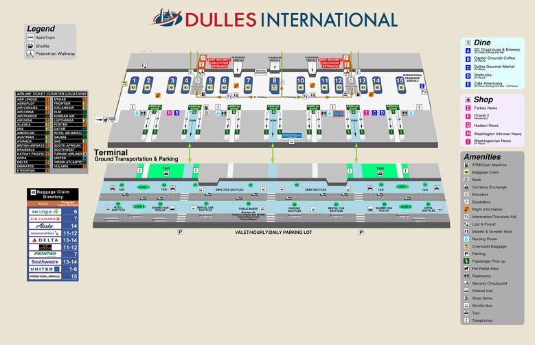 washington dulles terminal map 10 Private Dulles Airport Iad Transfers Taxi 2020 Terminal Maps washington dulles terminal map