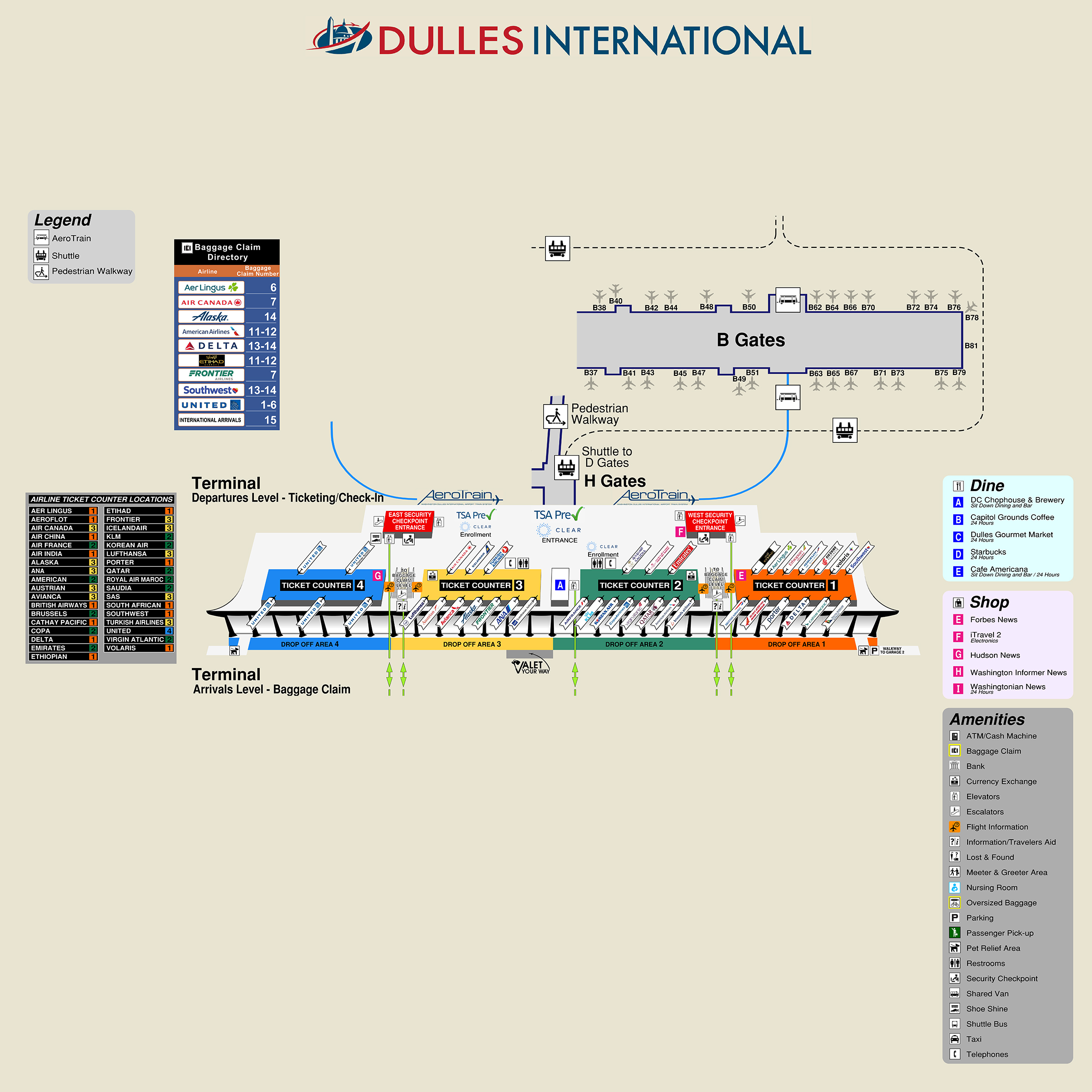 Dulles International Airport Map (IAD) - Printable Terminal Maps ...