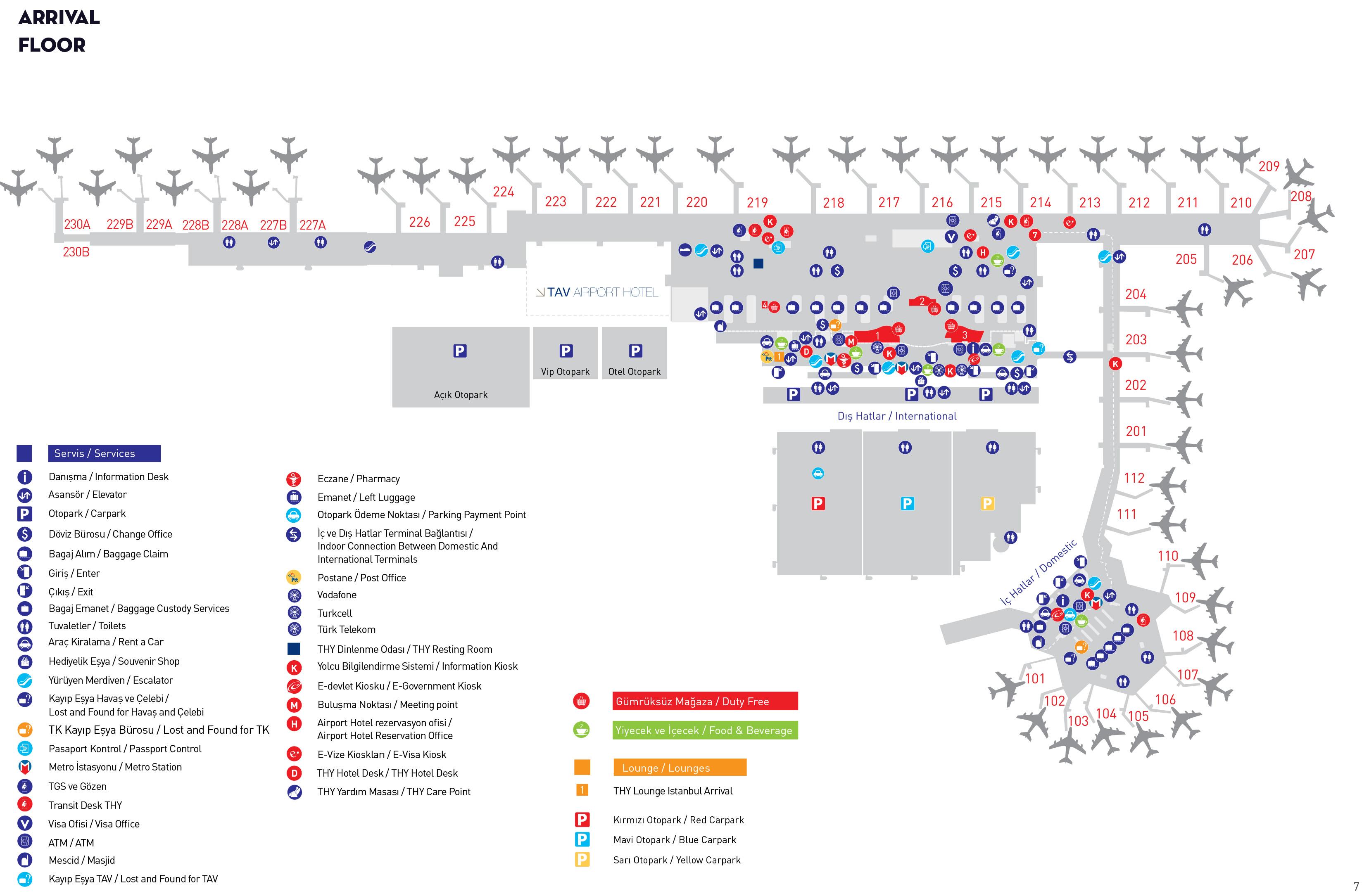 Ataturk Airport Map Ataturk Airport Map (IST)   Printable Terminal Maps, Shops, Food