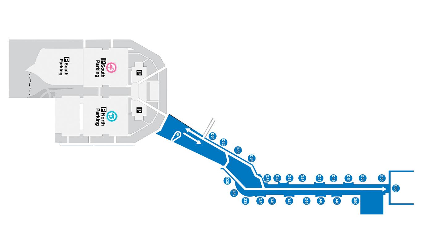 miami airport map (mia) - printable terminal maps, shops