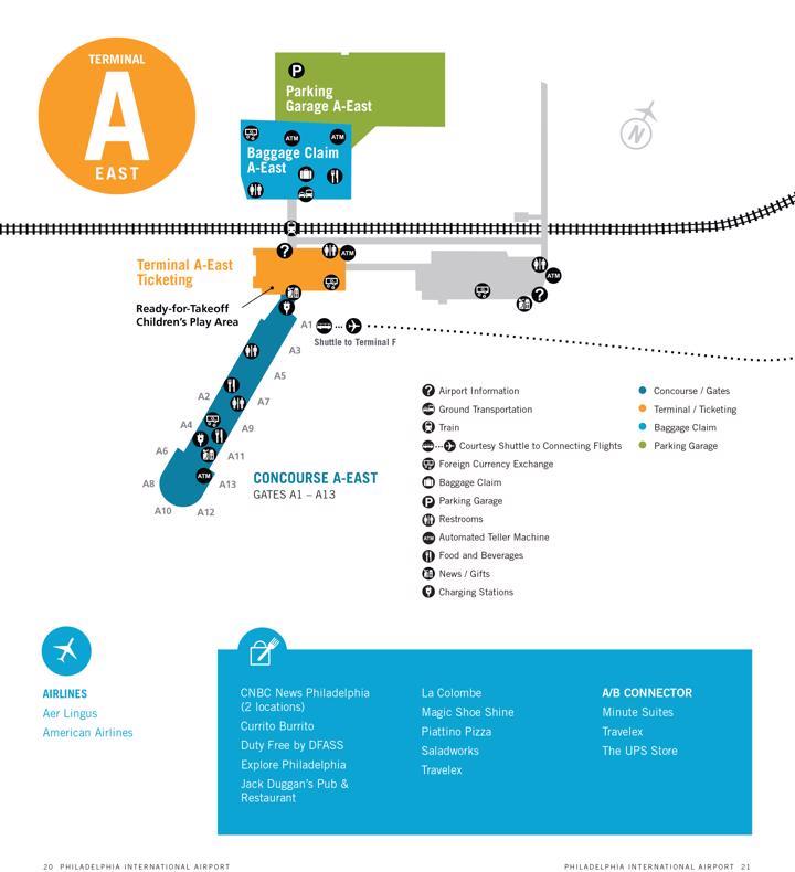 Philadelphia International Airport Map (PHL) - Printable