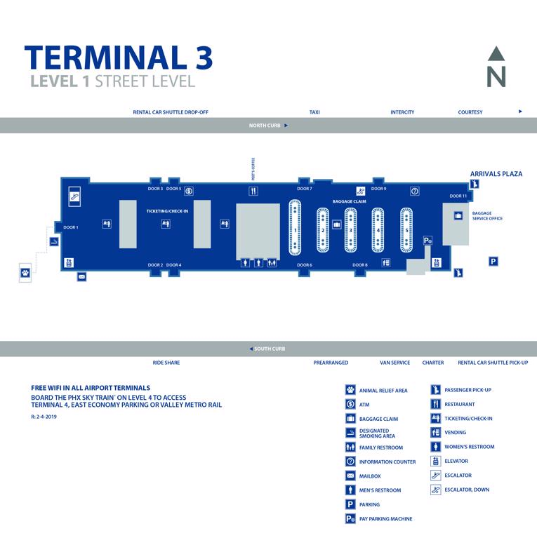 phoenix airport map terminal 3 10 Private Phoenix Sky Harbor Airport Phx Transfers Taxi 2020 phoenix airport map terminal 3