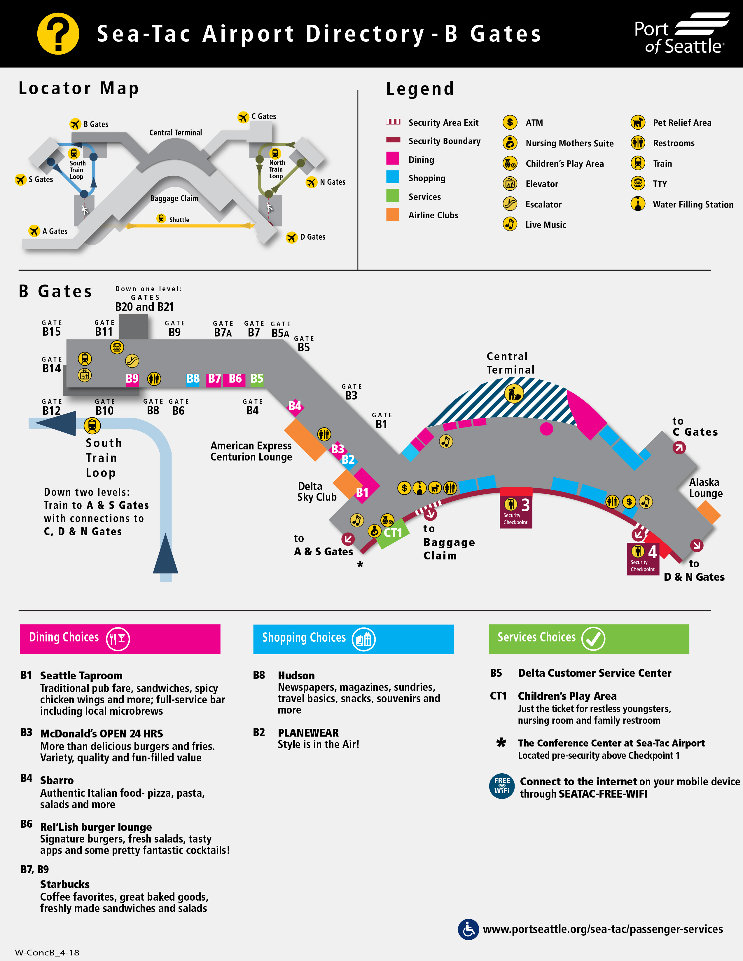 seattle-tacoma airport map (sea) - printable terminal maps