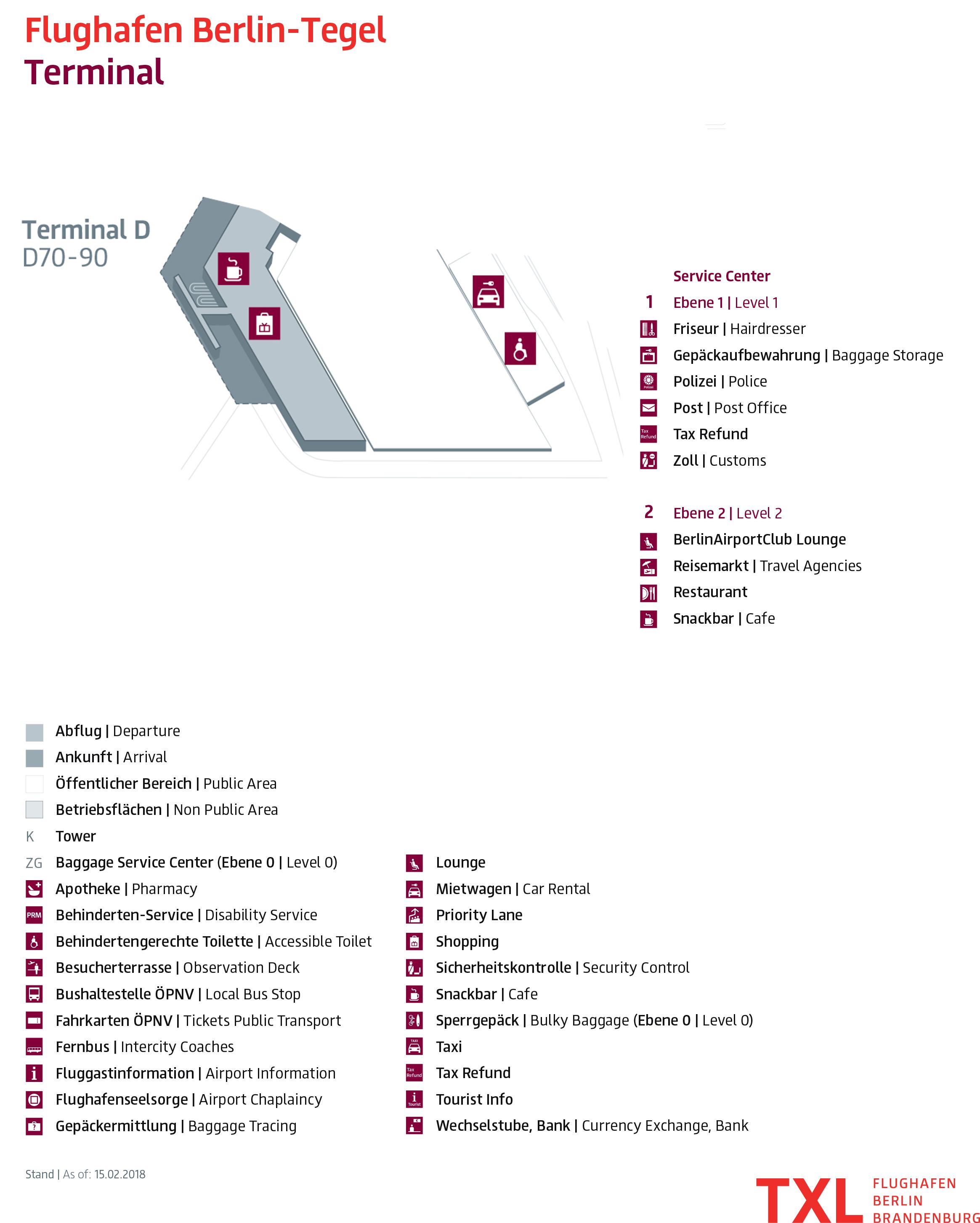 Berlin Tegel Airport Map (TXL)