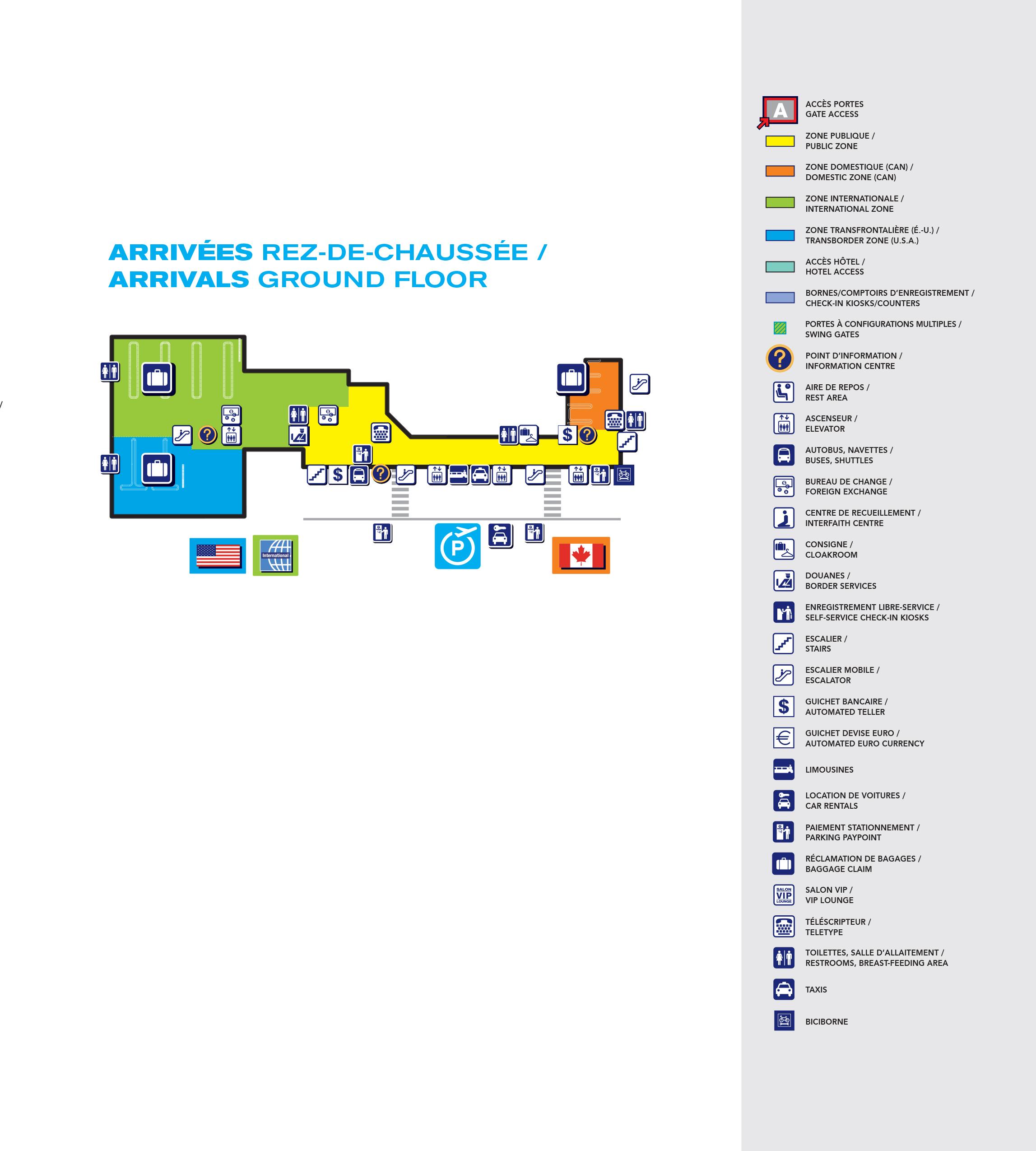 Montreal-Pierre Elliott Trudeau International Airport Map ...