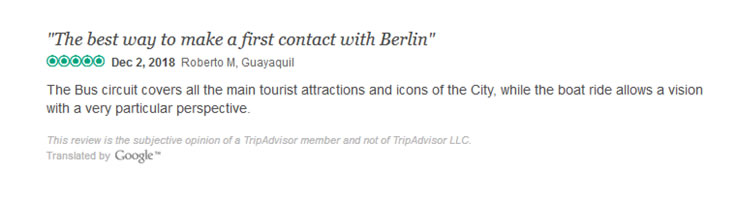 Berlin Hop-on Hop-off & Boat Ride Trip advisor Reviews