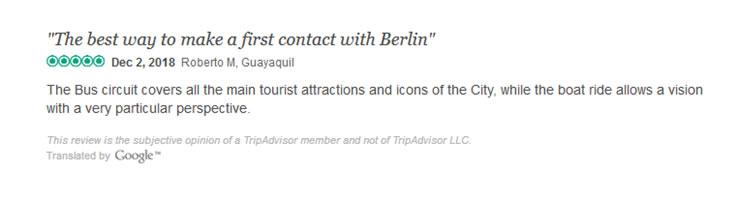 Berlin Hop-on Hop-off & Boat Ride Trip advisor Reviews