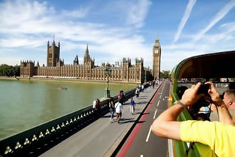 Bus Tour with London Eye & Cruise>Tour
