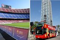 F.C. Barcelona & Hop on hop off bus Barcelona