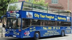 Frankfurt City Sighseeing Blue Bus
