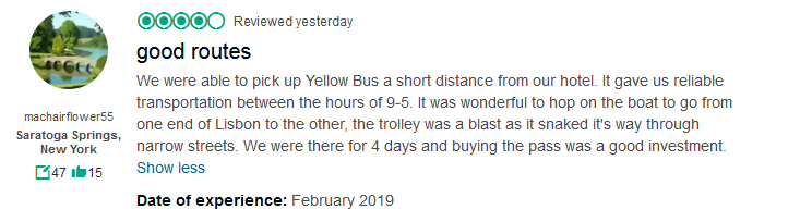 Lisbon Hop-on Hop-off Bus & River Cruise Tripadvisor Reviews