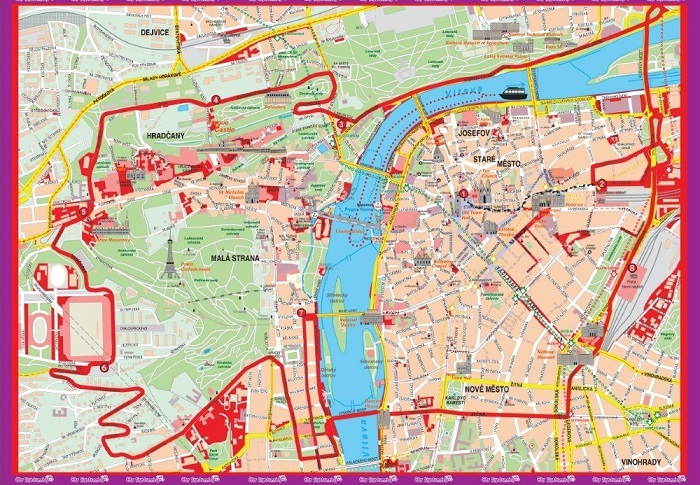 Istanbul City Sightseeing Hop-On Hop-Off Bus Tour Map
