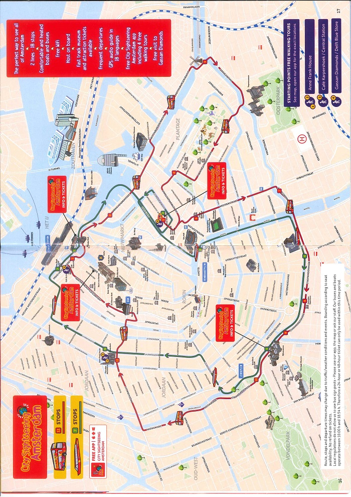 Amsterdam Canal Boat Tour Map
