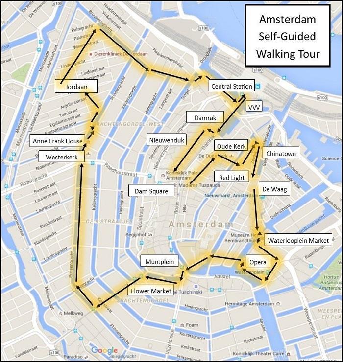 Amsterdam Walking Tour Map