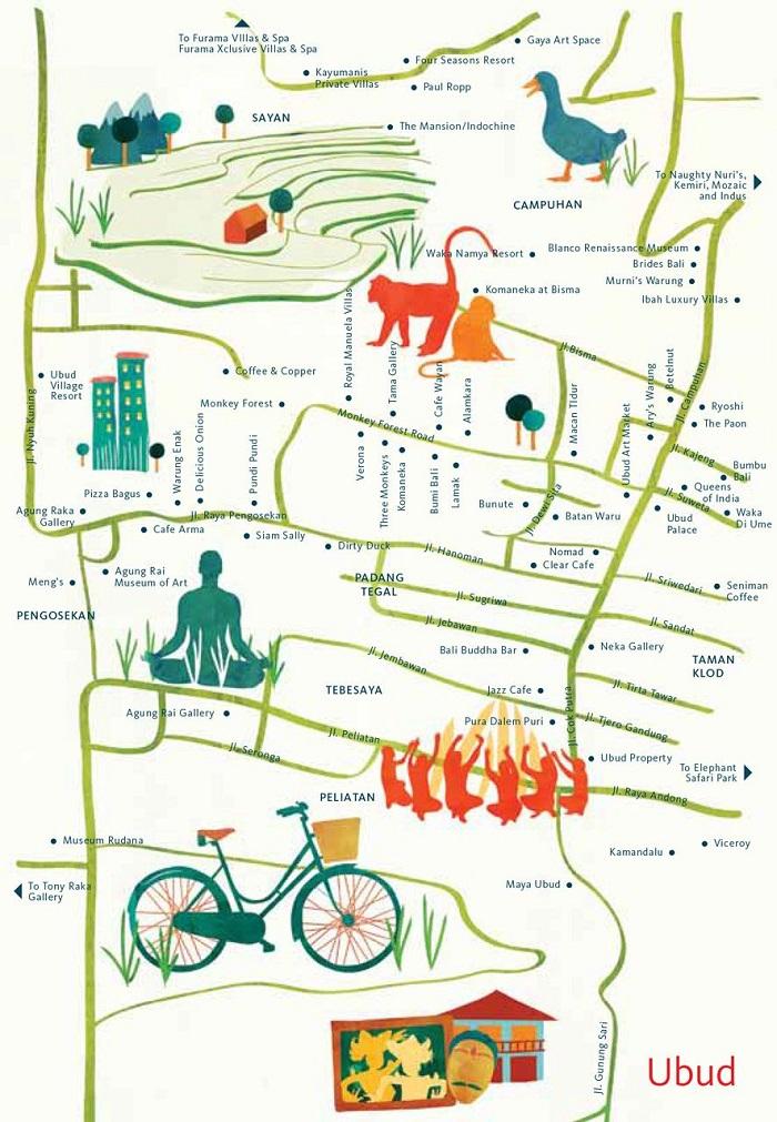 Bali Walking Tour Map