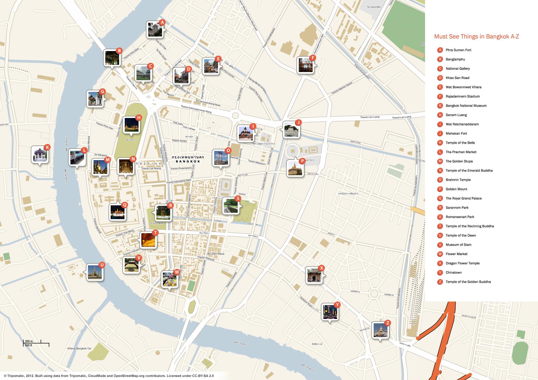 Bangkok Tourist Map