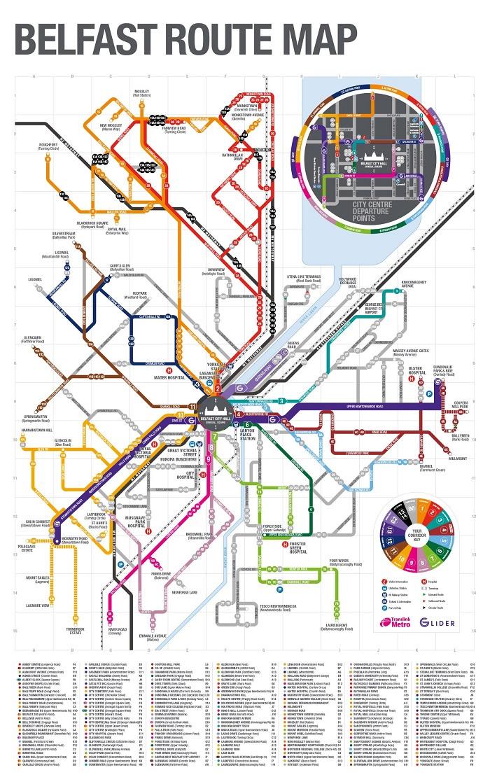 Belfast Metro Map
