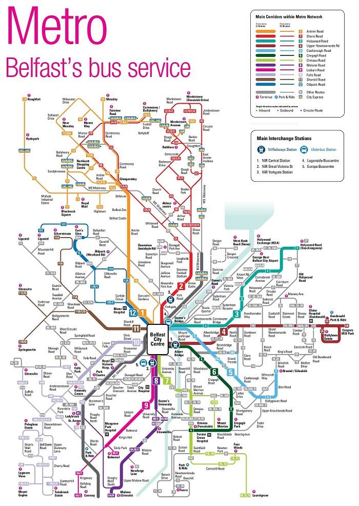 Belfast Transport Map