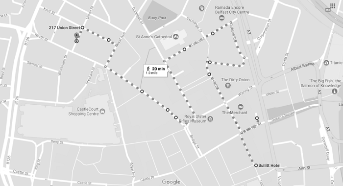 Belfast Walking Tour Map