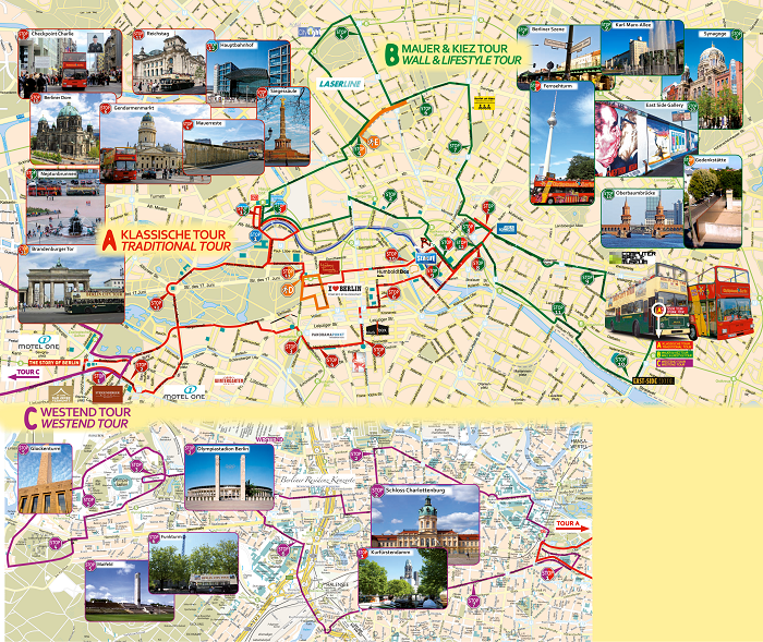 Berlin City Sightseeing Bus Tour Map