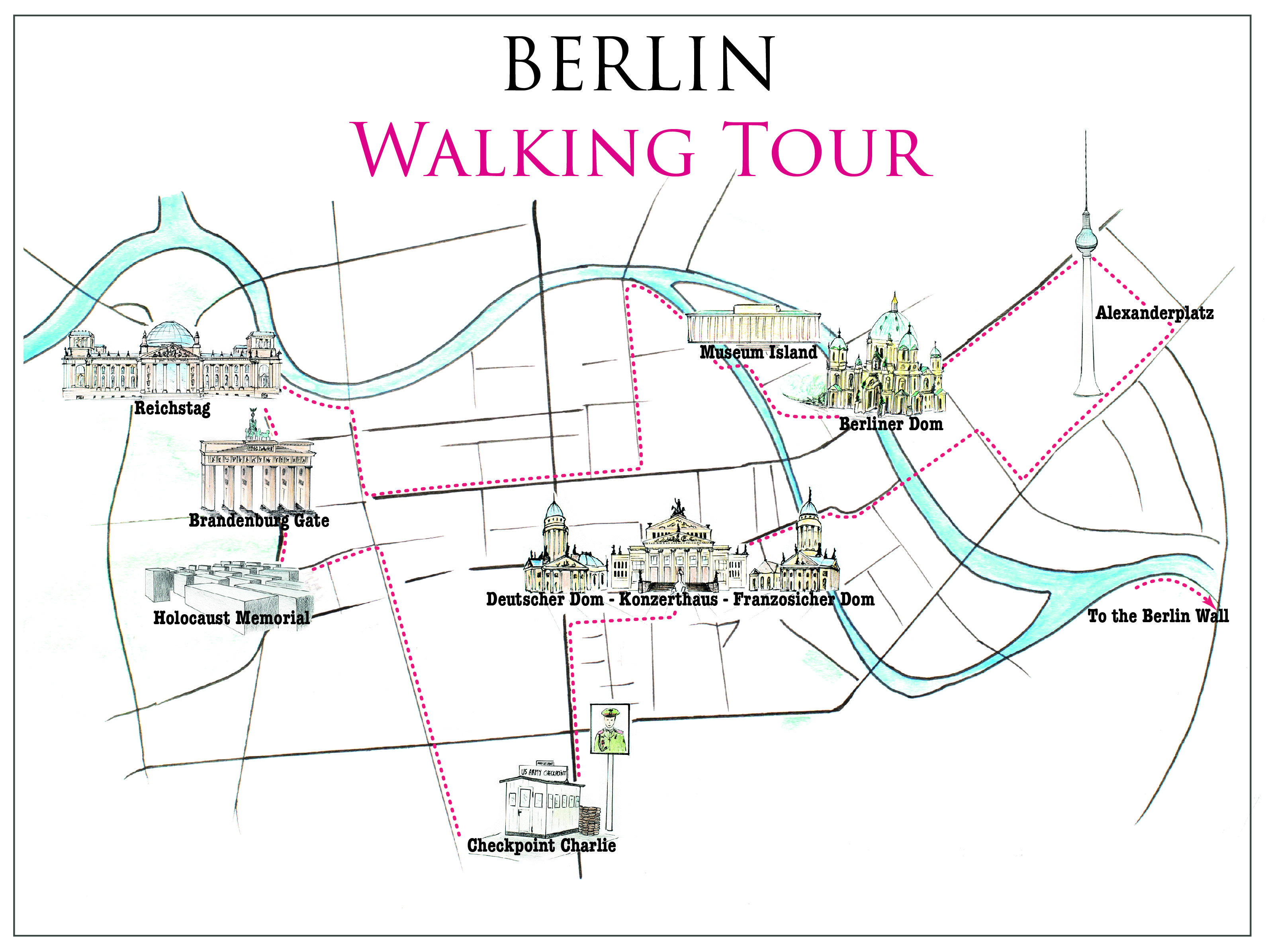 Berlin Walking Tour Map