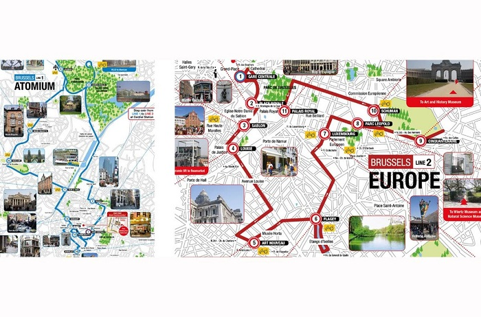 Brussels Hop-On Hop-Off Bus Tour Map