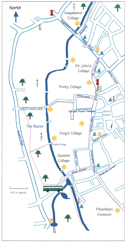 Cambridge Walking Tour Map