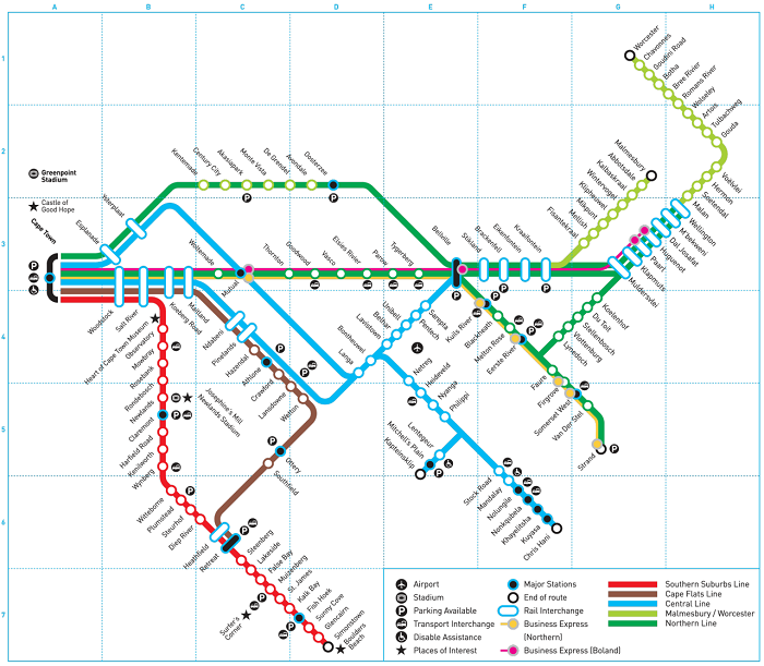 Cape Town Metro Map