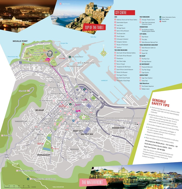 Cape Town Tourist Map
