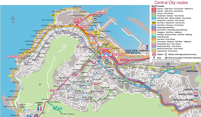 Cape Town Transport Map