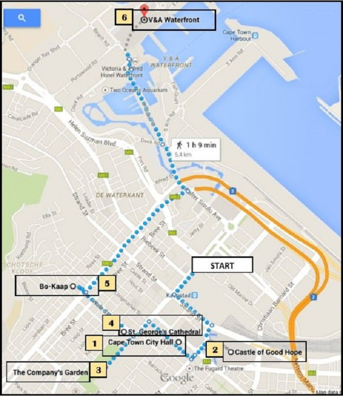 Cape Town Walking Tour Map