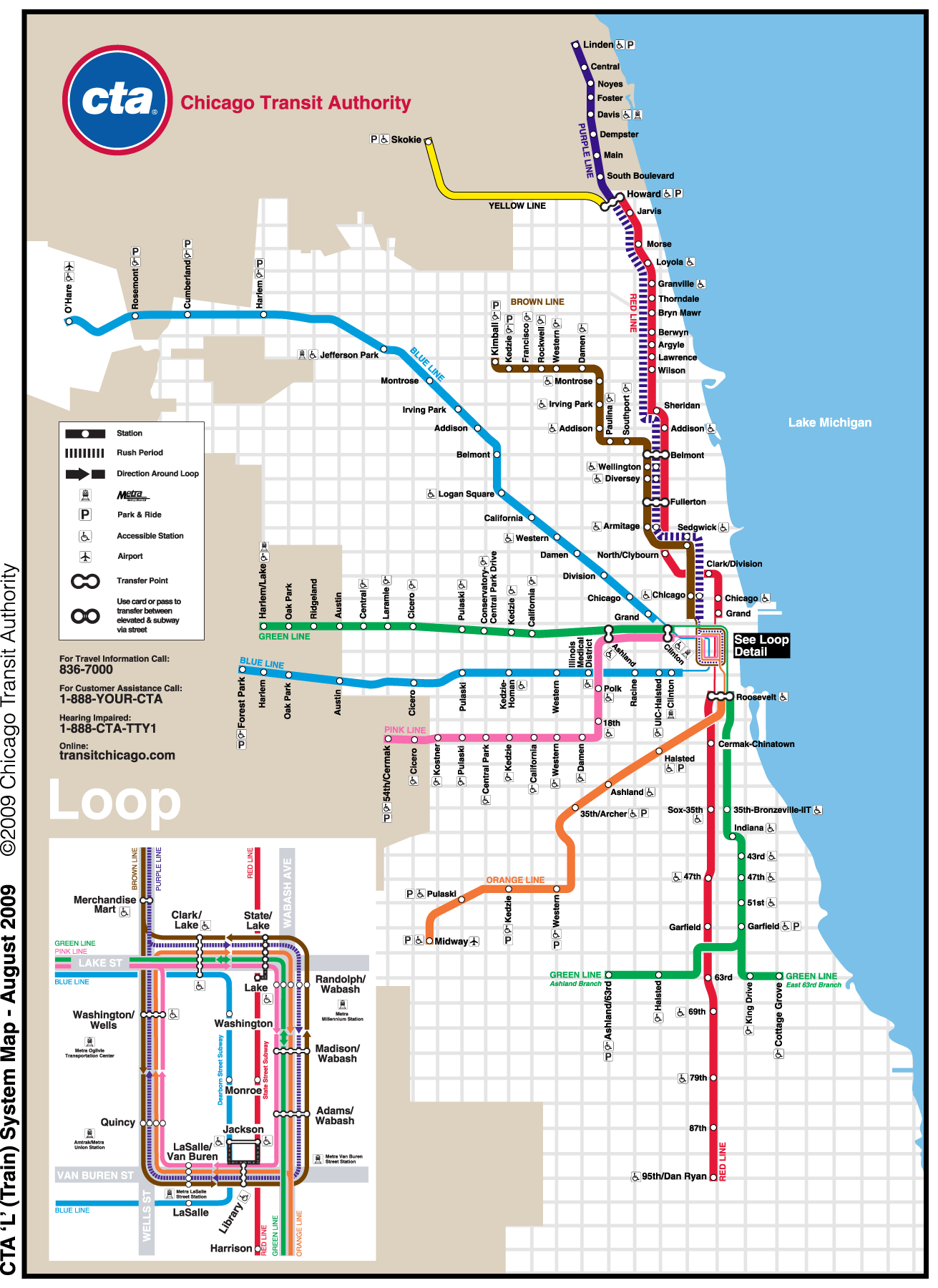 Chicago Metro Map