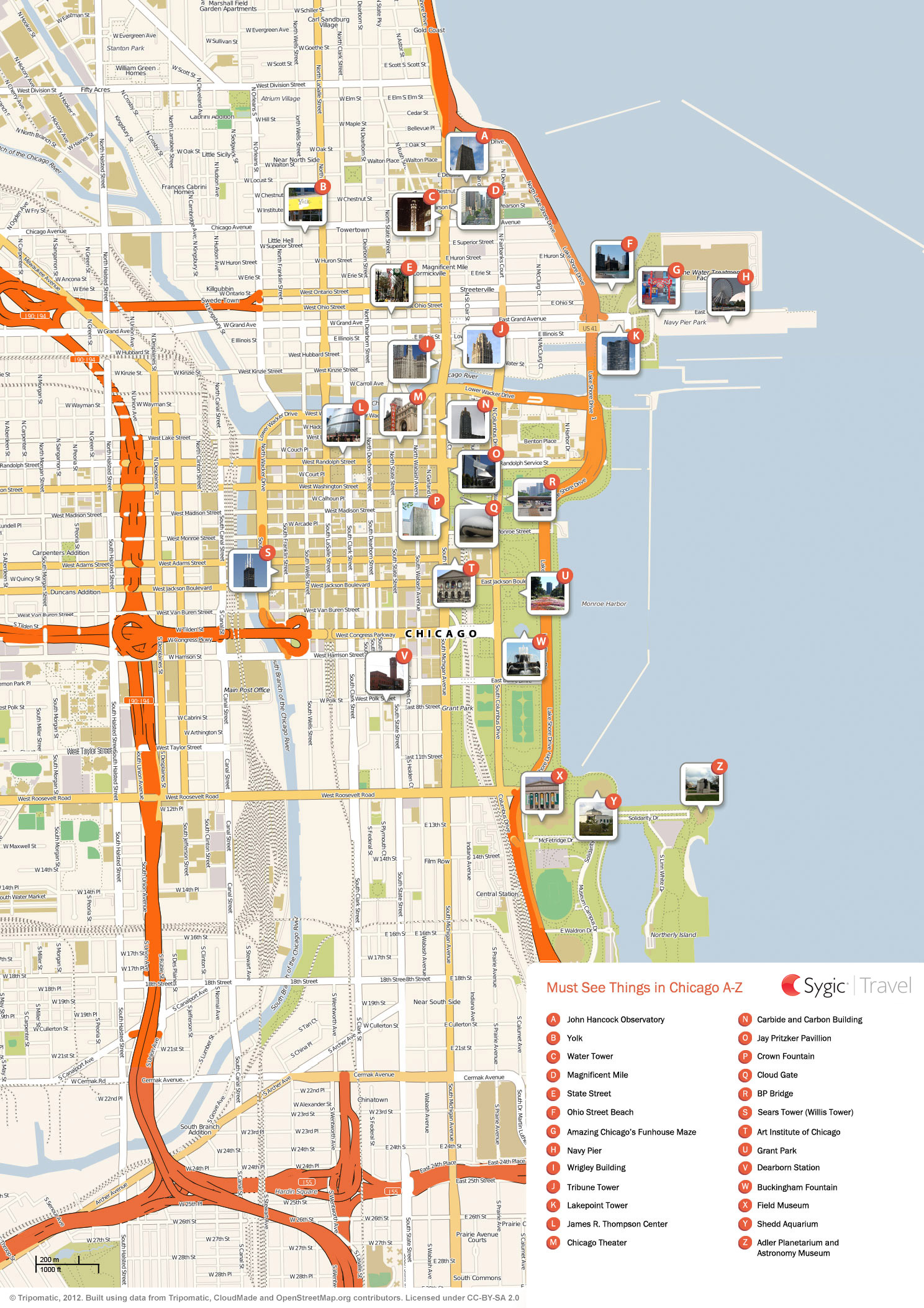 Chicago Tourist Map